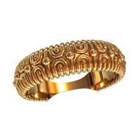 Фантазийное женское золотое колечко 585* пробы с сюжетом