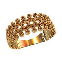 Изумительное женское золотое колечко 585* пробы с узорами