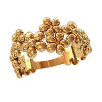 Прелестное женское золотое колечко 585* пробы с цветочками