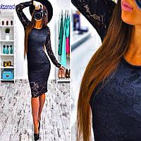 Женское нарядное платье из гипюра (2 цвета)