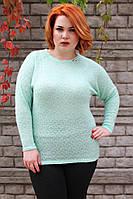 Туника большого размера Вика (4 цв), теплая туника для полных, одежда больших размеров, дропшиппинг