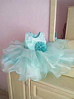 Великолепное нарядное платье на девочку с пышной юбкой и бусинами