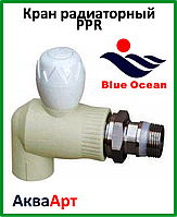 Кран радиаторный шаровый PPR 20*1/2 угловой BLUE OCEAN