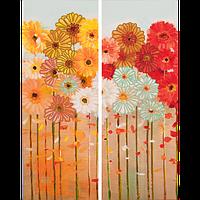 Схема  для вышивки бисером Волшебная Страна FLS-083D На цветочном лугу