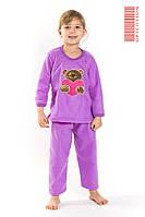 Пижама теплая для девочки хлопок+флис Турция