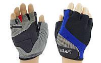 Перчатки для фитнеса женские ZEL (открытые пальцы, черный-серый)