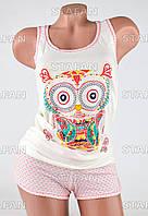 Женский комплект майка+шорты Турция PinkSecret 3592-R
