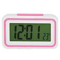 Часы настольные говорящие  9905 с будильником и термометром