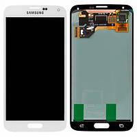 Дисплей для Samsung G900F Galaxy S5, G900H Galaxy S5 Duos, G900A Galaxy S5, + с сенсором (тачскрином) White