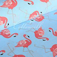 Отрез ткани Фламинго   60х154  см.