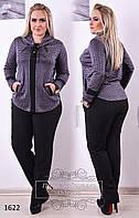 Костюм женский брюки и кофта принтованный турецкий трикотаж размеры 50,52,54,56
