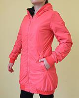 Куртка двухсторонняя осенняя Remain 7361-1 черный и розовый код 2011А