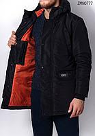 Зимняя куртка парка молодежная удлиненная Forest West black Арт. ZMN0777