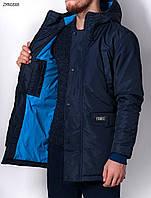 Зимняя куртка парка молодежная удлиненная Forest West navy  Арт. ZMN0888