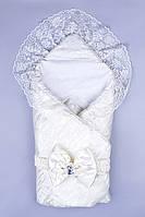 Конверт для новорожденных теплый на выписку 1007