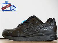 Мужские\женские кроссовки повседневные Asics Gel Lyte III Black Leather (реплика)
