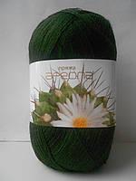 Пряжа для ручного вязания Ареола акрил №10 темная олива
