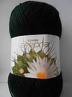 Пряжа для ручного вязания Ареола акрил №10 черный