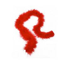 Перья декоративные Марабу Боа Красный 7-9 см 2 м