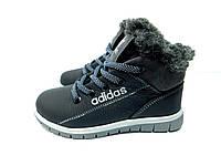 Детские зимние ботинки Adidas черного цвета
