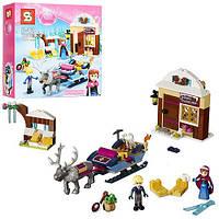 """Конструктор Disney Princess Sy372 (аналог Lego 41066) """"Анна и Кристоф: прогулка на санях"""", 205 дет"""