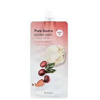 Ночная маска с маслом ши Missha Pure Source Pocket Pack - Shea Butter