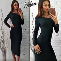 Женское стильное облегающее повседневное платье-миди (5 цветов)