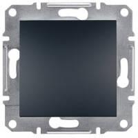 Выключатель 1-клавишный, антрацит - Schneider Electric Asfora EPH0100171
