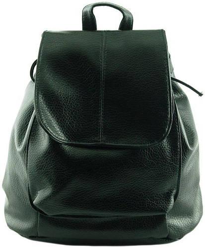 Практичный рюкзак из искусственной кожи 10 л. Traum 7229-09, черный