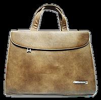 Сумка-портфель женская из искусственной кожи бежевая DOP-886932