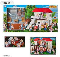 """Игровой набор """"Happy Family"""" - домик с аксессуарами, подсветка, 2 фигурки животных."""
