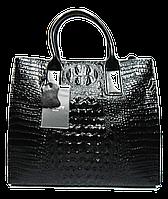 Черная женская кожаная сумка RRT-900435