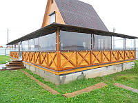 Прозрачные пвх шторы для беседки Одесса