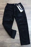 Вельветовые брюки на флисе мальчику Размер 8 - 16 лет