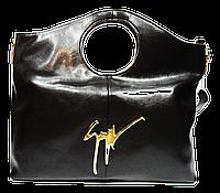 Оригинальная женская кожаная сумка коричневого цвета LNM-115382