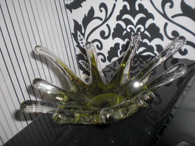 Цветное стекло конфетница СССР ваза