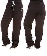 Спортивные штаны женские Nike батал на флисе, фото 1