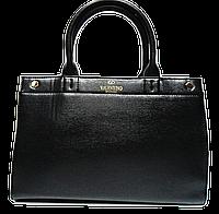 Стильная женская сумка из искусственной кожи черного цвета VALENTINO
