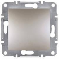 Выключатель 1-клавишный, бронза - Schneider Electric Asfora EPH0100169