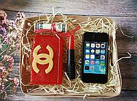 Набор сувенирного мыла ручной работы Женский портмоне,губная помада,айфон