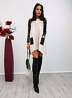 Женское стильное платье с карманами (4 цвета)
