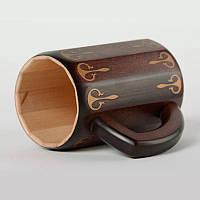 Декоративная кружка для пива ручной работы деревянная