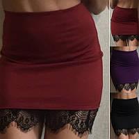 Стильная Мини юбка + кружево