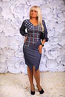 Платье женское горох полу батал, фото 1
