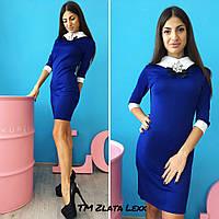 Женское модное платье с брошью (4 цвета)