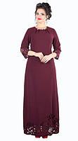 Платье женское перфорация полу батал в пол, фото 1