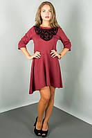 Женское красивое платье с асиметричным низом (расцветки) (+ большие размеры)