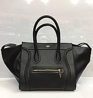 Женская сумка Celine Phantom 2020 черная классическая из искусственной кожи черная