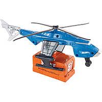 Вертолет с функцией запуска на трек Хот Вилс и машинка Hot Wheels
