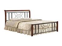 """Кровать """"Кэлли"""" двухспальная из натурального дерева и металла"""